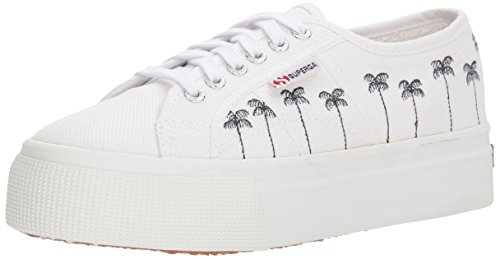 Superga Womens 2790 Palmetre Mote Sneaker Hvite
