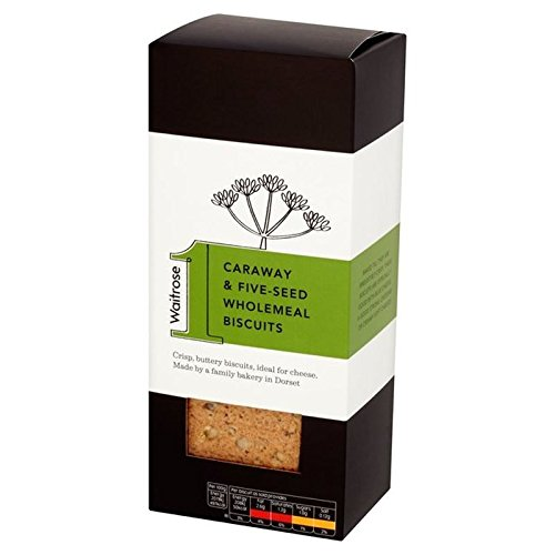 Caraway & 5 Seed Wholemeal Biscuits Waitrose 130g