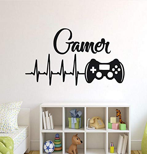 wuyyii Game Controllers Wall Decal Boys Room Playstation Wall Sticker Video Game Design Wall Sticker Gaming Controller Vinyl Art 57X33Cm -