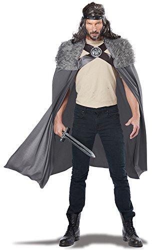 California Costumes Men's Dragon Master Cape, Gray, One (2016 Halloween Costume Ideas Men)