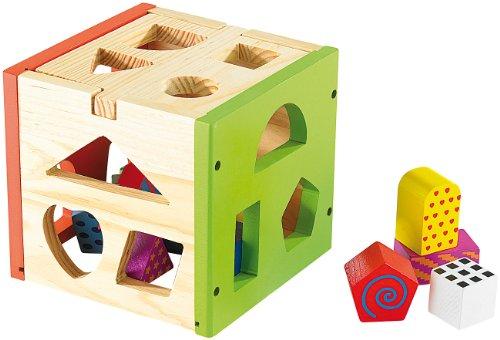 Playtastic Spannender Steckspiel-Würfel aus Echtholz