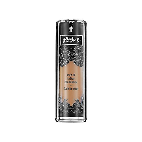 Price comparison product image Kat Von D Lock-it Tattoo Foundation - Full Coverage, Liquid NET Wt 1.0 Fl. Oz / 30ml (Medium 53 - light to medium complexion with golden yellow undertone)