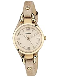Fossil Women's ES3262 Georgia Stainless Steel Watch with Leather Band
