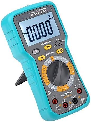 LIZANAN Digital Digital Multimeters,HD80D 6000 Counts Digital Multimeter ACV/DCV Electric Hand-Held Tester Meter Multimeter