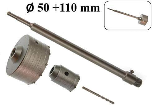2x SDS-Plus Bohrkrone mit Zentrierbohrer 50 mm 110 mm