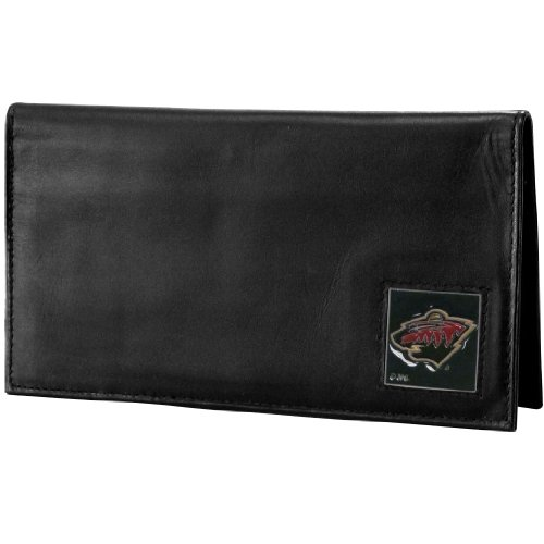 (NHL Minnesota Wild Genuine Leather Deluxe Checkbook Cover)