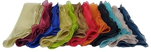 - Cotton Craft Napkins - 12 Pack Organza Ruffle Napkins - Multicolor - Napkins Measure 20 inches by 20 inches - Our Napkins are 38% Larger Than Standard Size Napkins