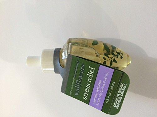 Bath and Body Works Vanilla Verbena Aromatherapy Single Bulb Wallflower Refill Stress Relief (Verbena Aromatherapy)