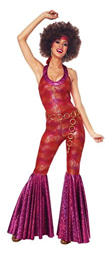 Costume Culture Women's 70's Foxy Lady Costume, Red, -
