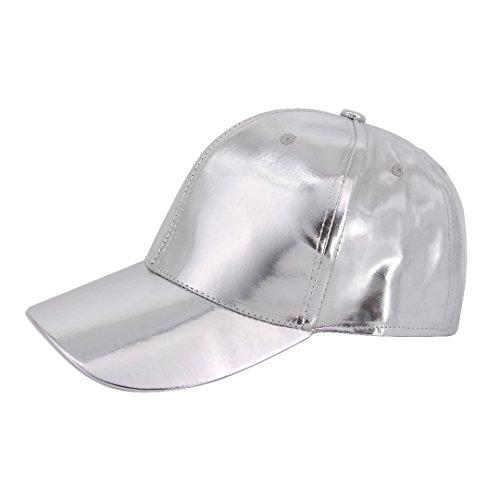 Naimo Adjustable Strap Baseball Cap Cotton Casual Cap (Silver)