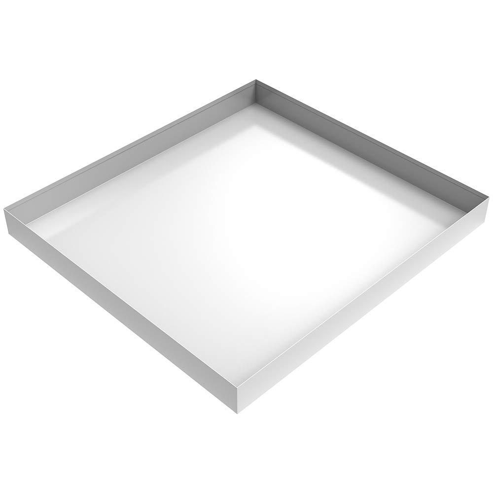 "27"" x 25"" x 2.5"" Compact Washing Machine Drip Pan (White)"