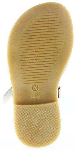 Richter Kinder Sandaletten Weiß Leder Klett Mädchen Schuhe 5402-141-0110 Offwhite Barbara Weiß