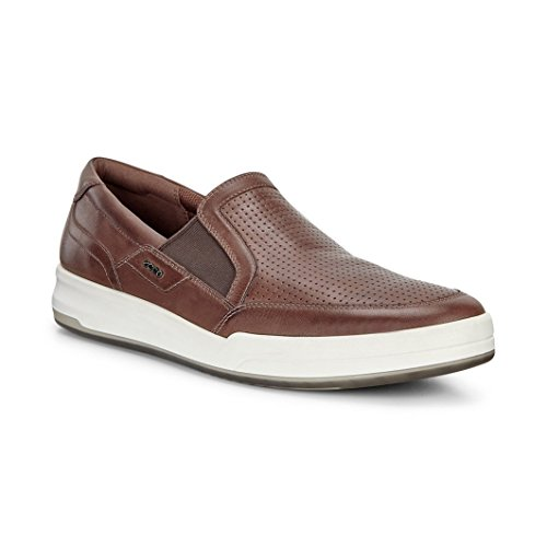 ECCO Men's Jack Perforated Slip On Fashion Sneaker,Cocoa Brown,44 EU/10-10.5 M US