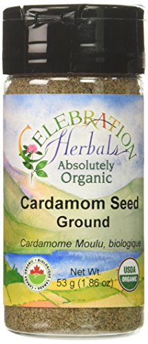 CELEBRATION HERBALS Cardamon Seed Ground Organic 50 g, 0.02 Pound by Celebration Herbals