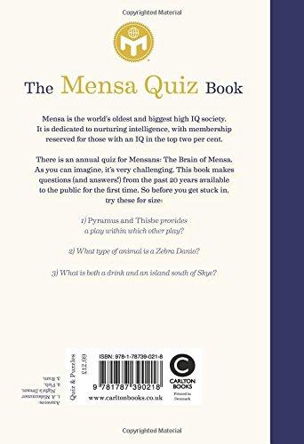 The Mensa Quiz Book: Amazon co uk: Mensa Ltd : 9781787390218