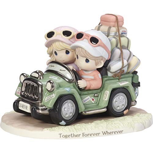 (Precious Moments Limited Edition Together Forever Wherever Couple In SUV Bisque Porcelain Figurine 182007)