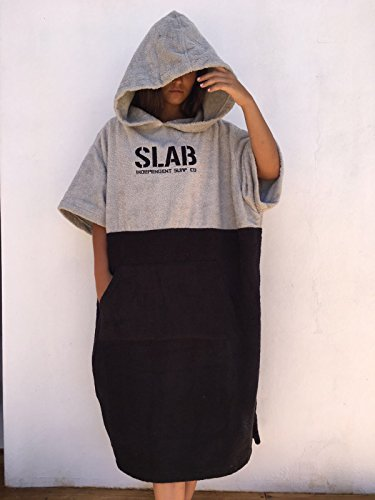 M l Grey poncho Talla Clear Black Slab Toalla And qSAxwv