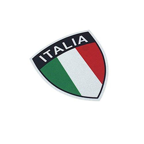 - Car Styling Italy Flag ITALIA Car Sticker Decals Vinyl Tape Reflective for Vespa Piaggio 12x10cm