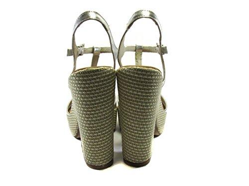 LA MORA M1036 - Sandalias de vestir de Piel para mujer plateado