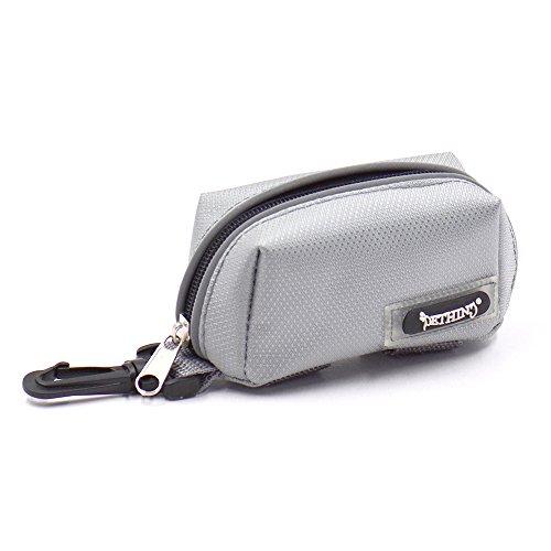 Dog Waste Bag Holder Pets Cat Leash Attachment Poop Bag Dispenser Oxford Fabric(Grey, 3.5