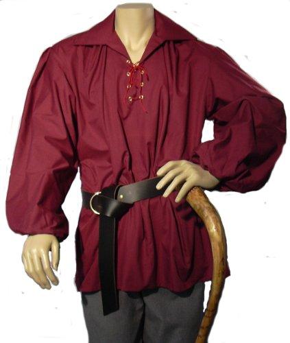 Pirat (Mens Burgundy Pirate Costumes)