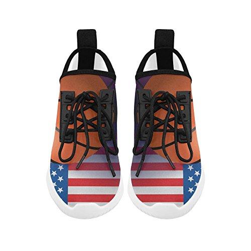 D-story Basket Amerikanska Flaggan Ultralätt Löparskor Mens Öka Gymnastikskor