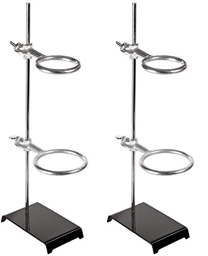 American Educational 7-G87-A Stamped Steel Support Ring Stand with 2 Rings, 6