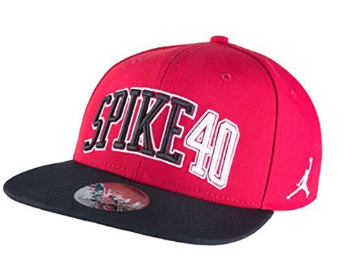 [724906-687] AIR Jordan AJ Spike 40 Snapback Apparel Hats AIR JORDANRED Black