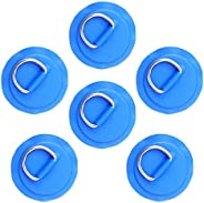 """JOIBA Stainless Steel D-Ring Patch,3.15"""" / 8cm Circular D-Ring PVC Patch for Inflatable Boat Kayak Dinghy"""