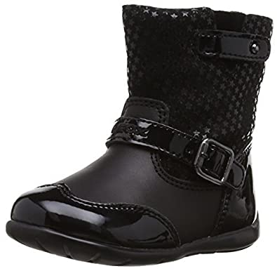 Geox Baby Kaytan Noir Filles Boucle Bottes Chaussures