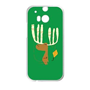 HTC One M8 Cell Phone Case White A Moose ing Lycmj