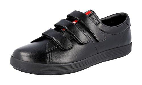 Prada Men's 4P2985 Black Leather Sneaker EU 8.5 (42,5)/US 9.5
