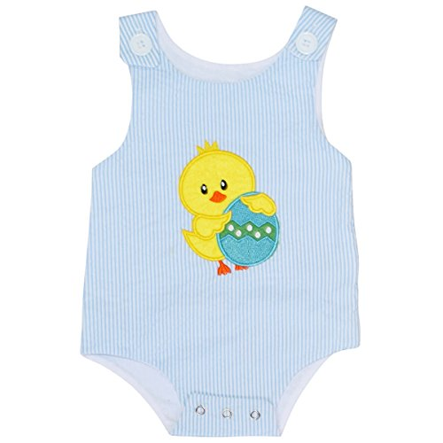 Unique Baby Boys Easter Chick Jon Jon Outfit (3 (Easter Boutique)