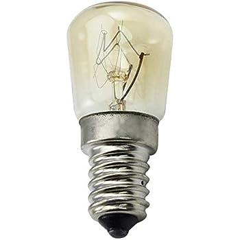 CTKcom 25W T25 E14 Base Oven Light Bulbs(6 Pack)- T25 E14 Microwave Light Bulbs 120V Heat Resistant Bulbs 300C,Warm White Incandescent Light Bulb 360° Beam ...