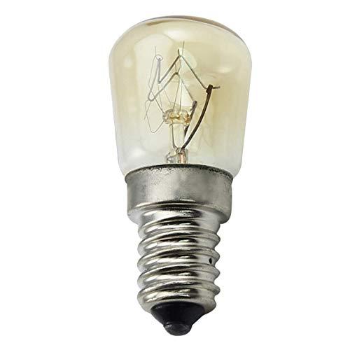 (CTKcom 25W T25 E14 Base Oven Light Bulbs(6 Pack)- T25 E14 Microwave Light Bulbs 120V Heat Resistant Bulbs 300'C,Warm White Incandescent Light Bulb 360° Beam Angle,110-130V,6 Pcs)