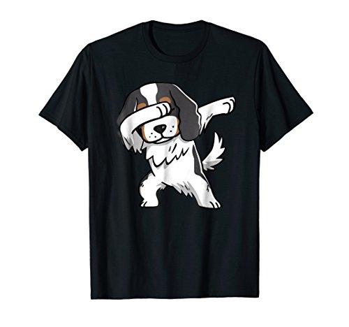 Tricolor Cavalier King Charles Spaniel Dog Dabbing T-Shirt