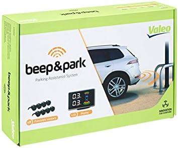 Valeo Beep Park Parkeerhulp met 8 sensoren en LCDdisplay voor inbouw aan voor en achterzijde artikelnr 632202 zwart