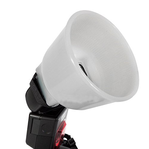 Leoie Fashion and Commercial Lighting Flash Modifying Kit Universal Cloud lambency flash diffuser White dome cover and fits all flashes like Canon Nikon Sony