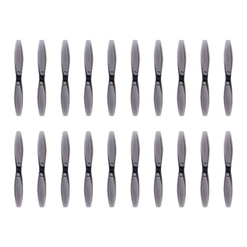 NIDICI 10Pairs 65mm Propellers 1.5mm Mounting Shaft for 1103-1106 Brushless Motor FPV Quadcopter Micro Drone Toothpick Frame (Clear Black) ()