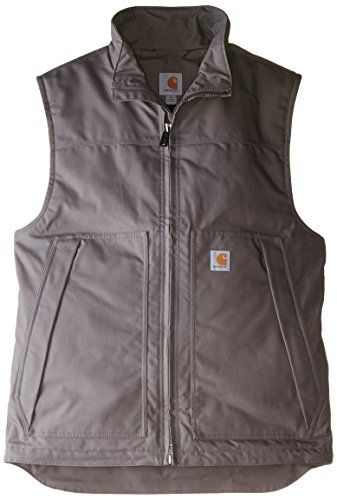 Carhartt Men's Big & Tall Quick Duck Jefferson Vest,Charcoal,Large Tall
