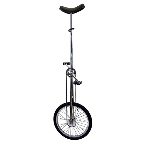 Fun 20 Inch Wheel Super-Tall Chrome Unicycle by Fun