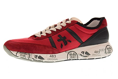 Chaussures Premiata Hommes Baskets Basses Hanzo 2907 Rouge