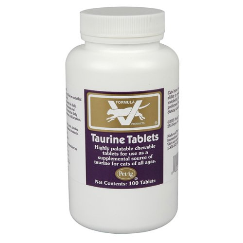 PetAg Taurine Tablets, 250 MG, 100 Count, My Pet Supplies