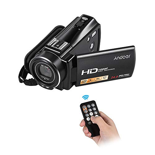 Andoer HDV-V7 PLUS 1080P Full HD 24MP Portable Digital Video Camera Camcorder Remote Control Infrared Night Vision Recorder 16X Zoom 3.0