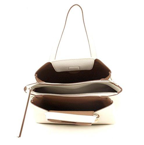Tommy Hilfiger TH Core M Satchel Creme AW0AW04152-902 Damen Handtasche Tasche Henkeltasche Schultertasche Umhängetasche