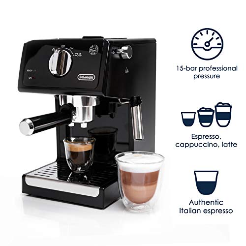 De'Longhi ECP3120 15 Bar Espresso Machine with Advanced Cappuccino System, Black/Stainless Steel