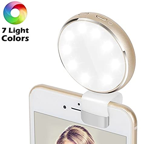 Selfie Ring Light,2EYOU Rechargeable Battery with 36 LED Outdoor Webcast Indispensable Supplementary Light For Most Smart Phones,Ipad, Brightness Levels Adjustable,White(USB Charging) 2E·YOU 2EYCA0885