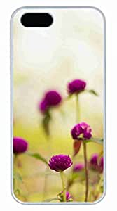 The Red Flowers Customized Popular DIY Hard Back Case Cover For iPhone 5S White