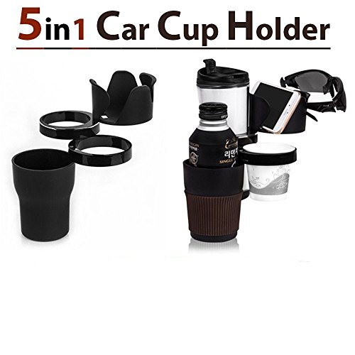 Adjustable 5 in 1 Auto Multi Cup Holder - Car Life Style Accessory Cradles Mounts