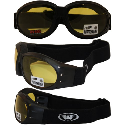 Eliminator 24 Yellow Tint-Transitional Lens Red Baron Mot...